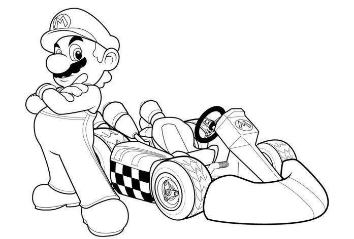 Mario Kart Coloring Pages | Mario coloring pages, Super ...