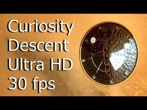 Is this real?!  Mars Curiosity Descent - Ultra HD 30fps Smooth-Motion