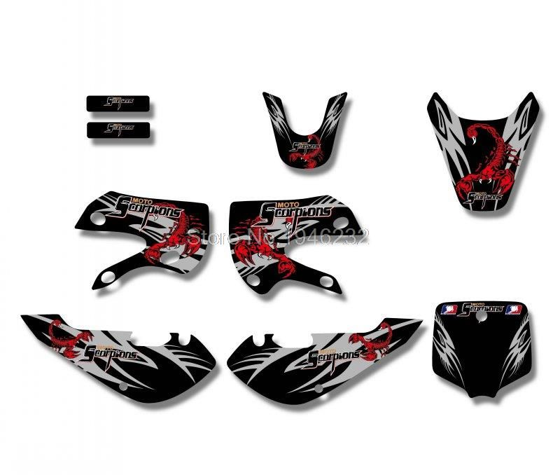 Scorpions New Style TEAM GRAPHICSBACKGROUNDS DECAL STICKERS Kits - Kawasaki motorcycles stickers