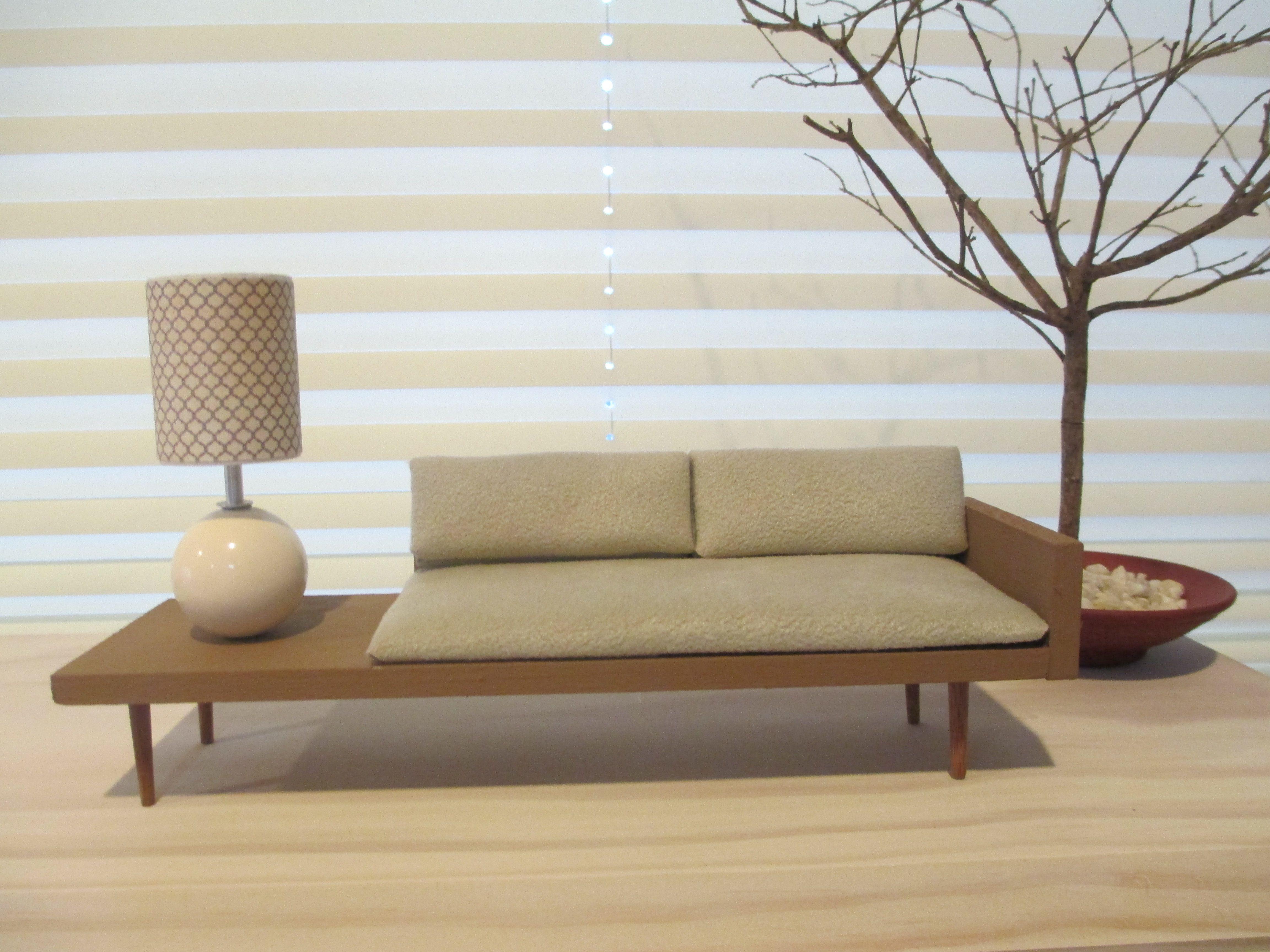 Miniature Mid Century Modern Sofa Made By Me Modern Dollhouse