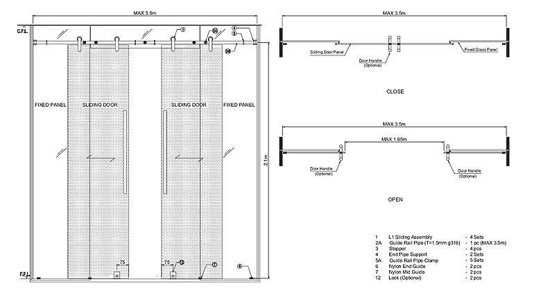 Sliding Glass Door Plan glass door detail | ar803 | pinterest | sliding door, doors and glass