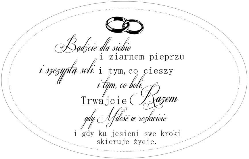 Przystań Artystyczna ślubnemiłosne Cytaty Wedding Cards