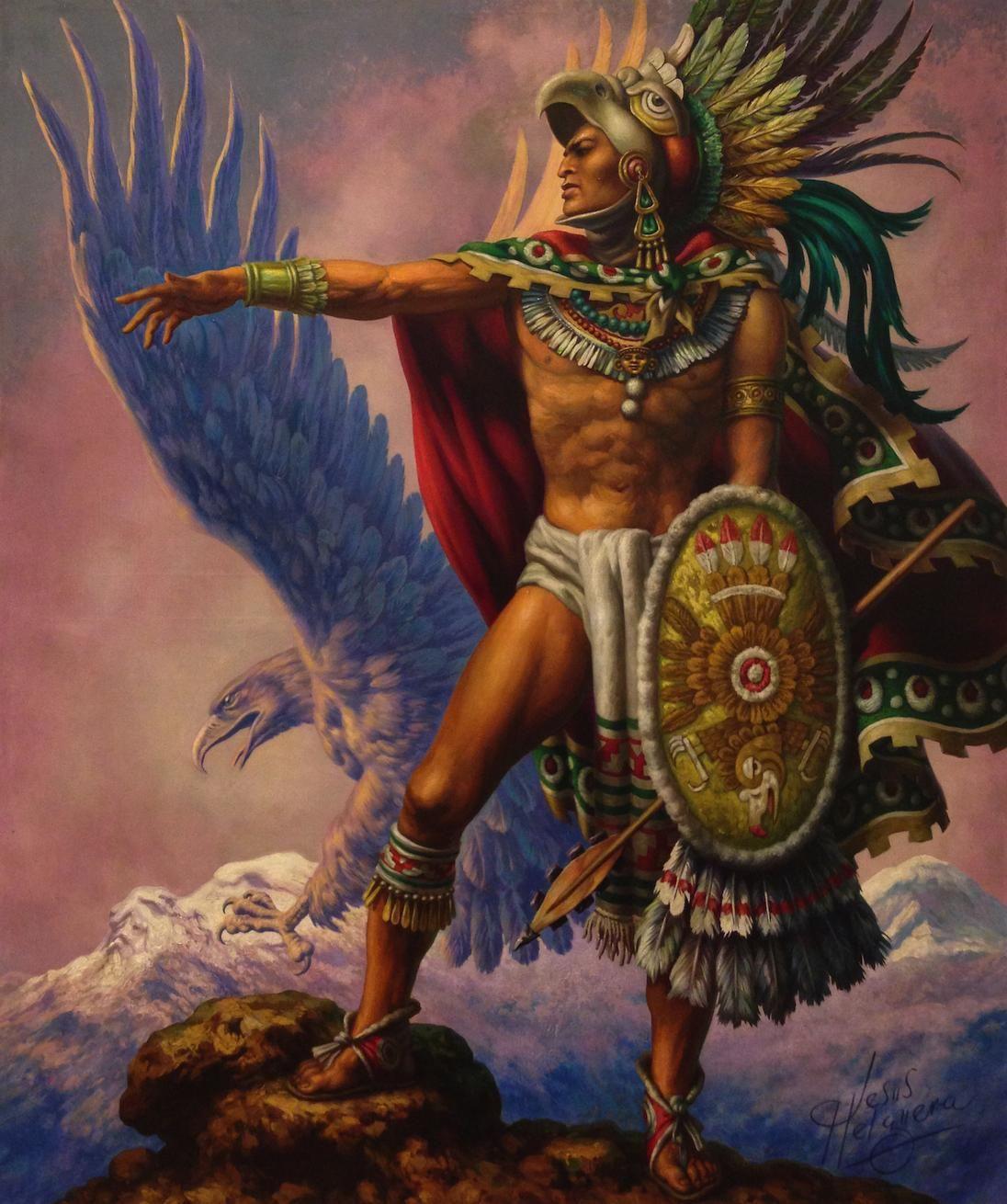 Pinturas Mexicanas Aztec Art Aztec Warrior Mexican Artwork