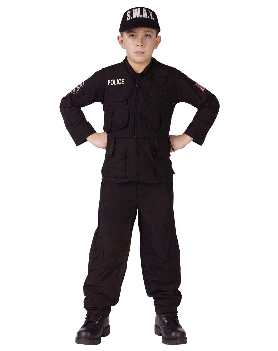 Costumes Kids Boys Occupation Military Swat Team Boys