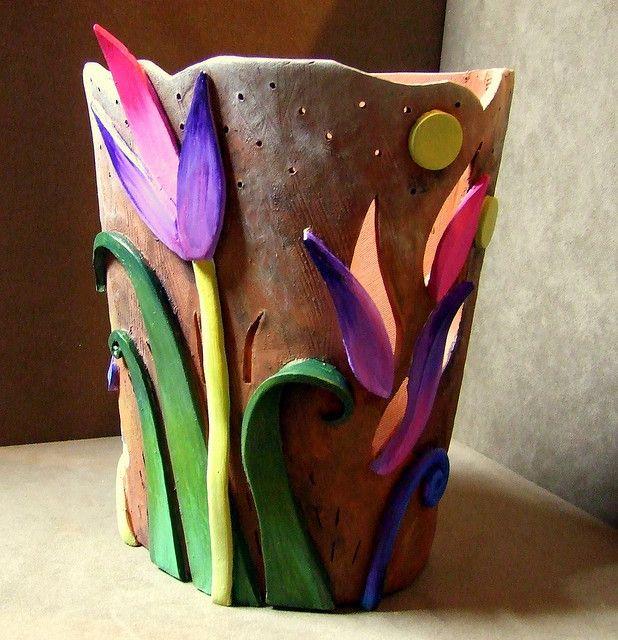 clay art on pot Pin by Monika Winzheim on Keraamika ja klaas / Pottery and glass