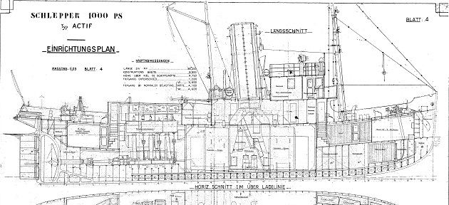 Actif 1939 french tugboat mine layer plans | Boat Plans | Pinterest | Boating, Ships and Boat ...