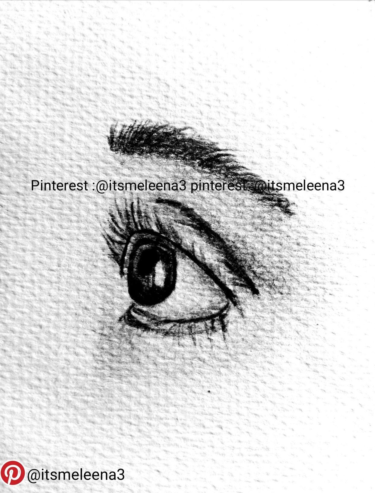 رسم عيون بقلم الرصاص Drawing Eye By Pencil