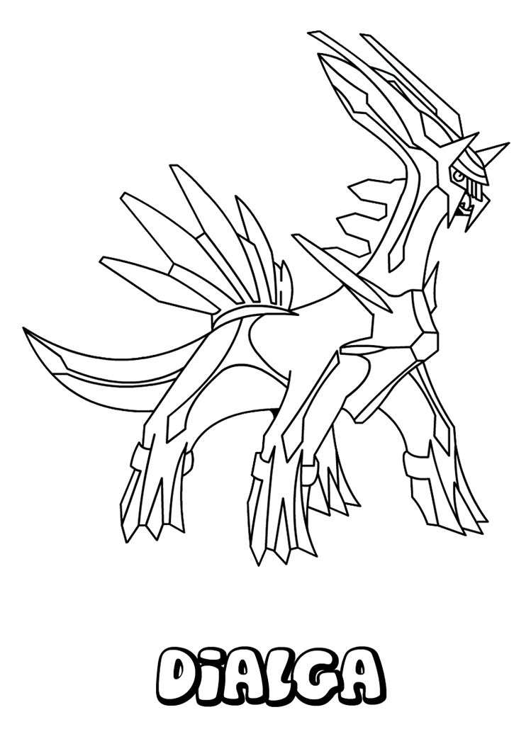 Dialga Pokemon Coloring Page Free Printable STEEL POKEMON Pages For Toddlers Preschool Or Kindergarten Children Enjoy This