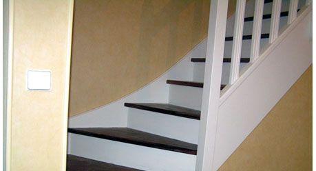 Brun et blanc escalier pinterest - Escalier noir et bois ...
