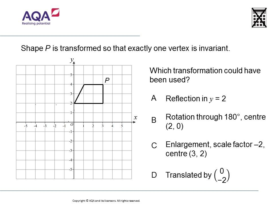 Transformations And Invariant Points Higher Gcse Maths Question Of The Week On Mr Barton Maths Gcse Math Gcse Maths Questions Math Geometry