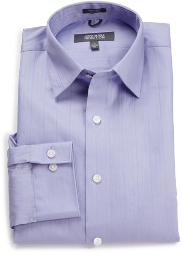 BESTSELLER! Kenneth Cole Reaction Men`s Spread Collar Tonal Solid Woven Shirt $22.00