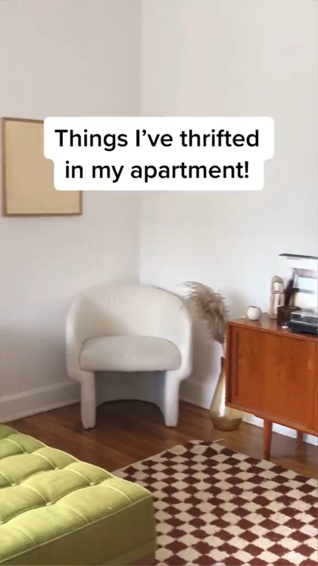 Things I've thrifted in my apartment! (More of my style @themoptop!)