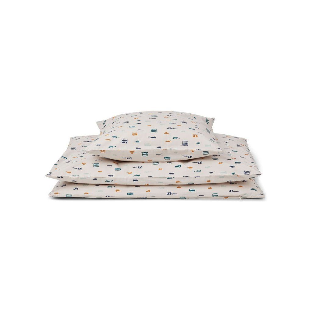 Liewood Bed Linen Car Print Liewood Modern Toddler Bedding