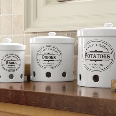 Elegant Ventilated Storage Containers For Potatoes, Onions And Garlic ($60)