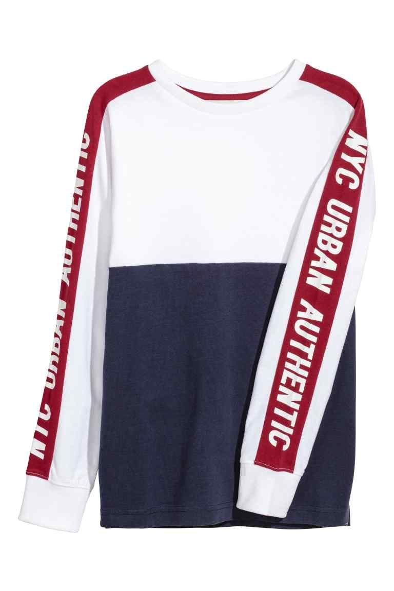 design de qualité 1892e a10ae T-shirt color block en jersey en 2019 | MAN S/T | T shirt ...