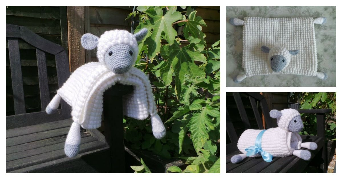 2647def7e4d4 Cuddly Sheep Baby Toy Pram Blanket Crochet Pattern