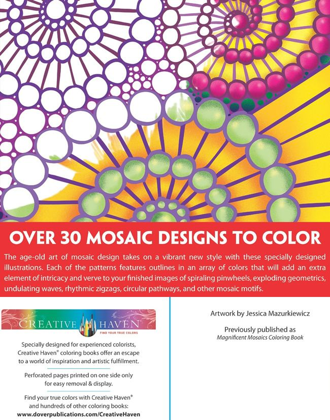 Creative Haven Mosaics Designs With A Splash Of Color