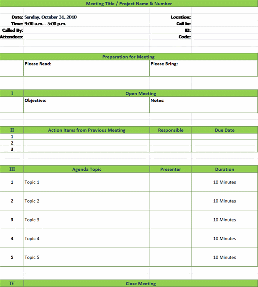 Doc585560 Free Meeting Agenda Templates free meeting agenda – Agenda Download Free