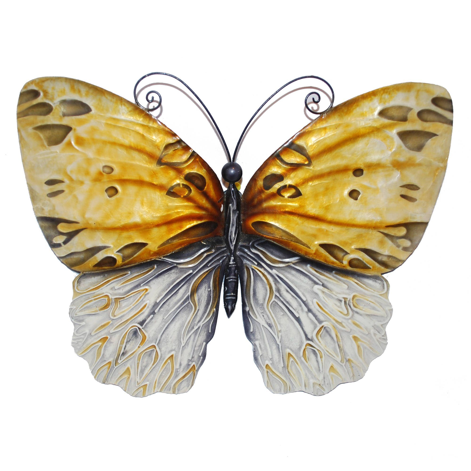 Eangee handpainted honey metal butterfly wall art philippines