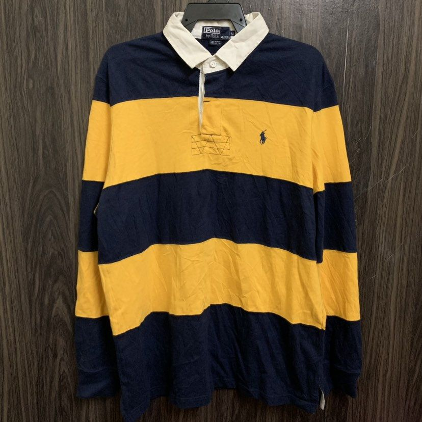 Vintage 90s Polo Ralph Lauren Rugby Shirt Style Big Striped Etsy Ralph Lauren Rugby Shirt Polo Ralph Lauren Shirt Style