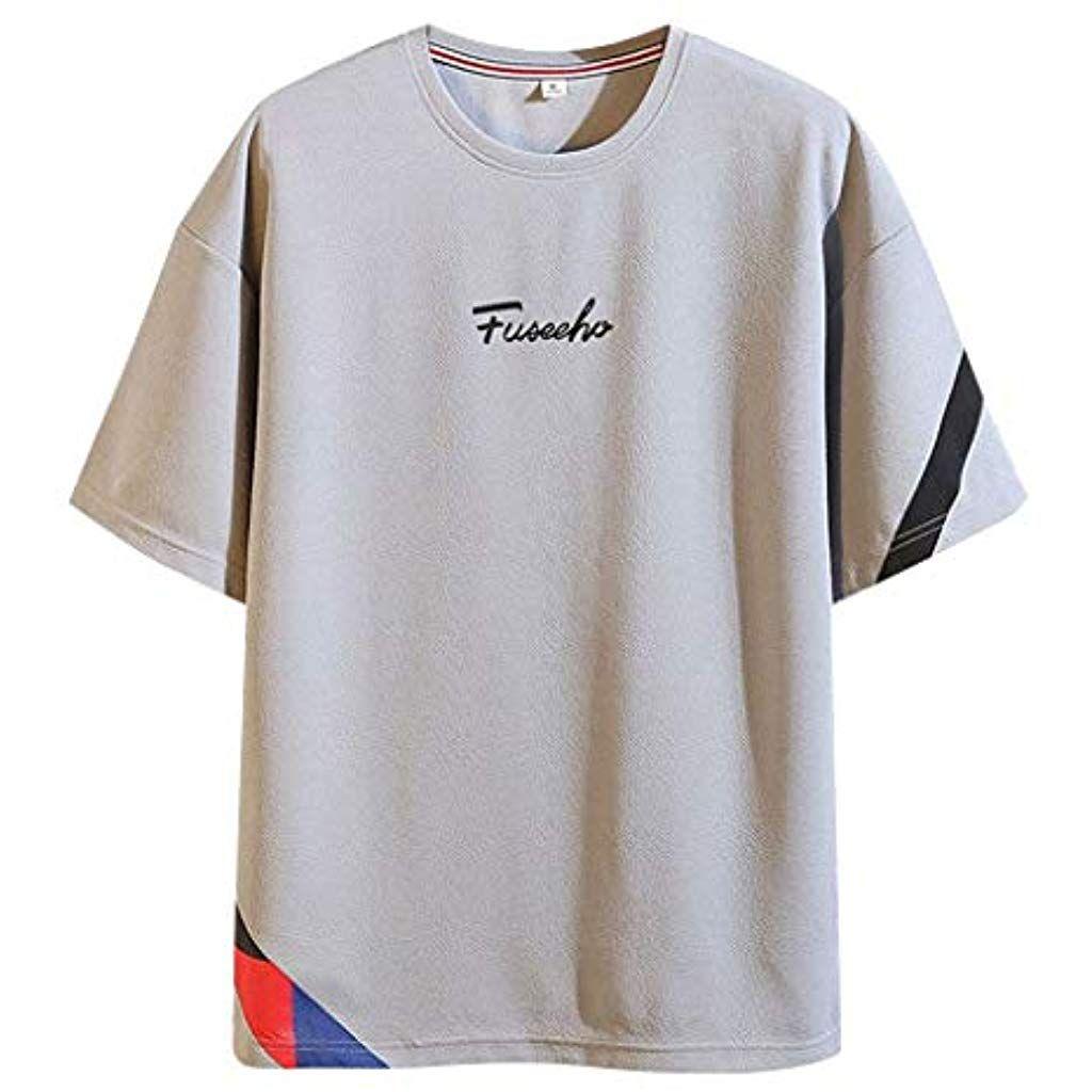 Fannyfuny Rundhals Kurzarm Basic Tops t Shirt Herren O Neck