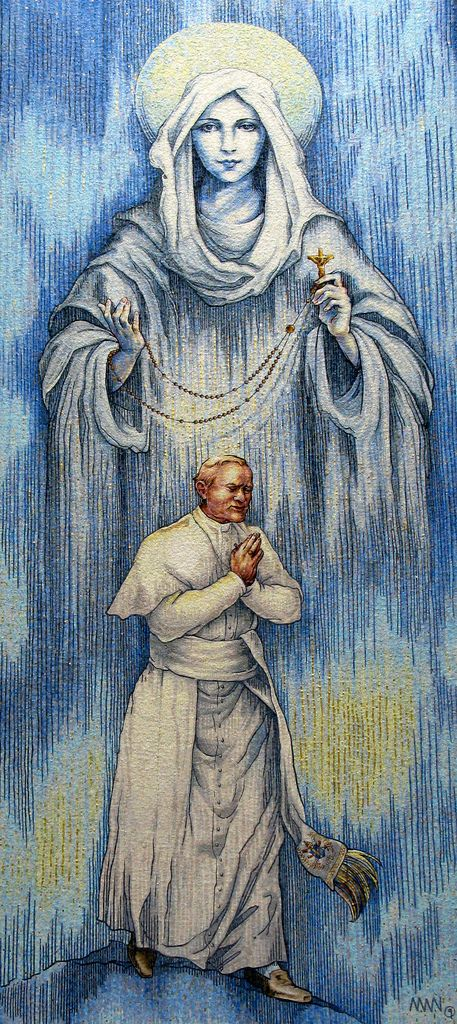 Pope John Paul II and Our Lady of the Rosary | Flickr - Photo Sharing!