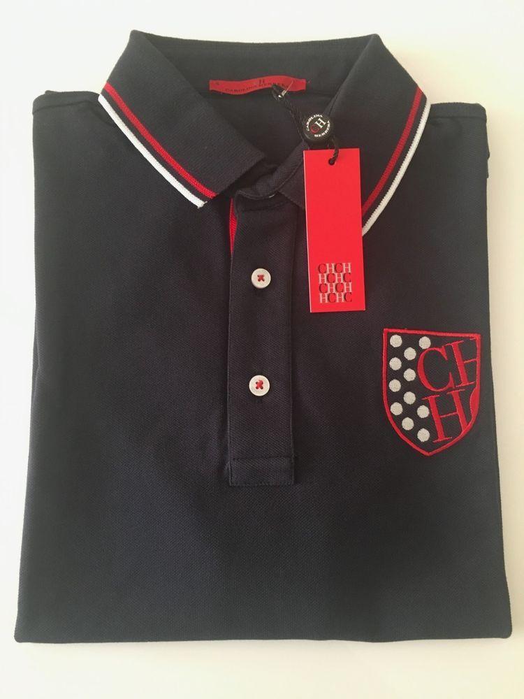 6be1c8e3aa Mens Carolina Herrera Short Sleeved Polo Shirt - Slim Fit - Size S #fashion  #clothing #shoes #accessories #mensclothing #shirts