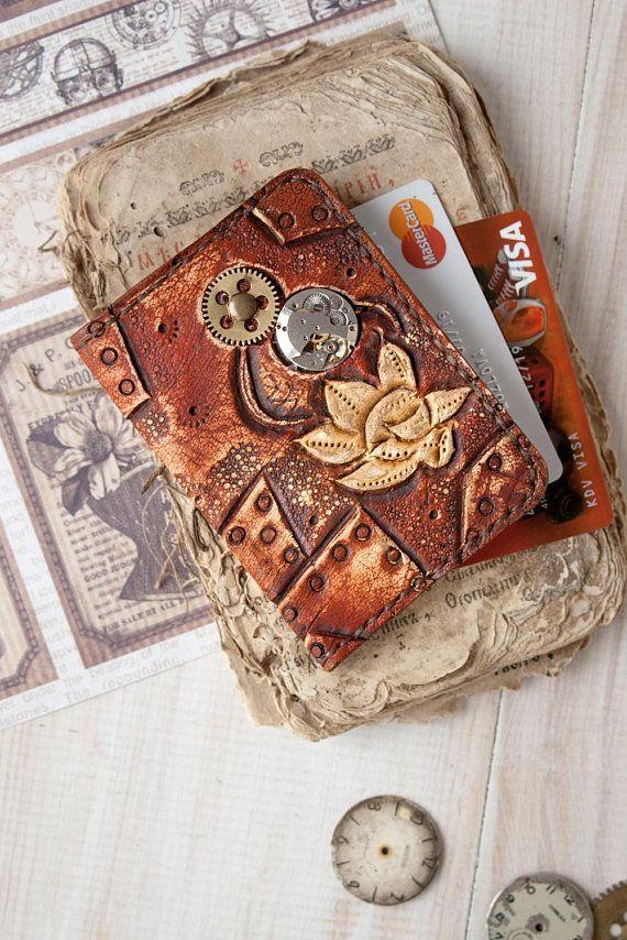 Credit card holder - Slim wallet women - Business card case - Front ...