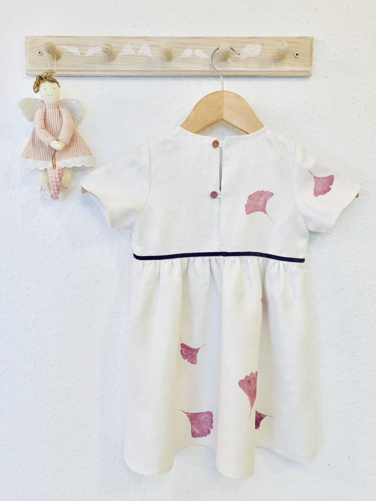 3bbfb96c33c Linen dress for little girl for any occasion  kidsfashion  linendress   linendressesforgirls  flowergirl  fowergirldress  ginkgo  gingkoleaves   whitedress