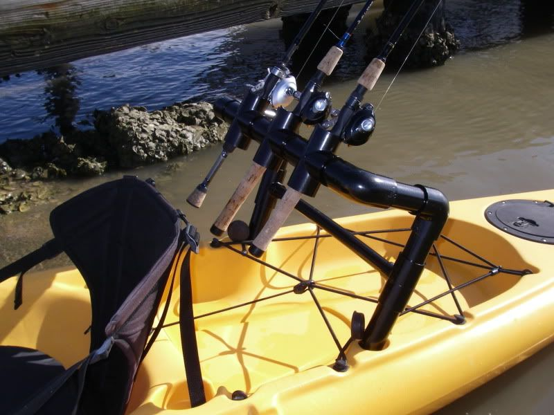 Rocket launcher rod holders for Kayak fishing pole holder