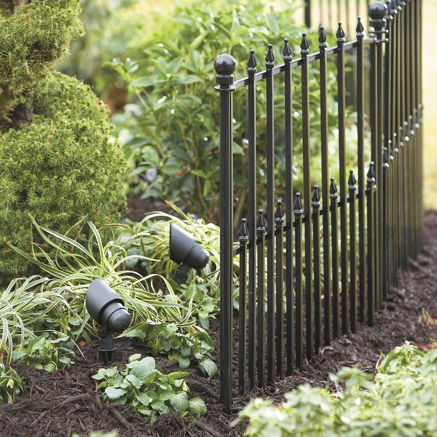 Charming No Dig Empire 29 In X 38 In Black Powder Coated Steel Fence Panel