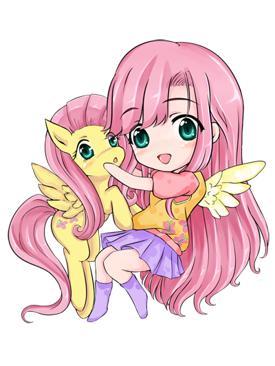 Fluttershy and Chibi Fluttershy !? by d-tomoyo.deviantart ...