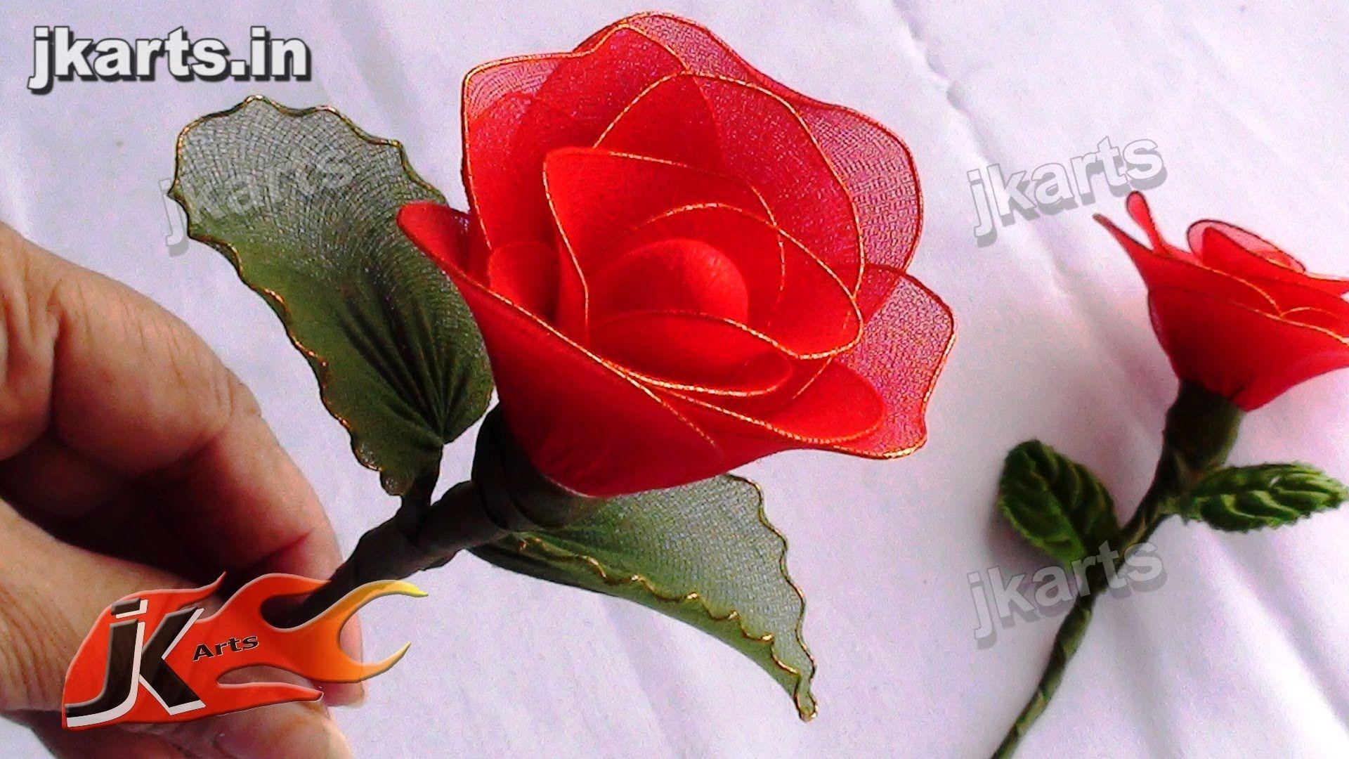 Diy How To Make Rose Stocking Flower Jk Arts 091 Paper Flowers