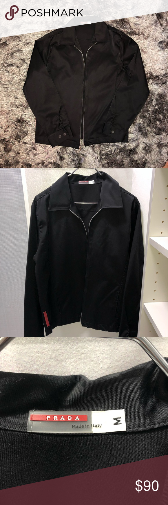 Men S Black Prada Jacket Jackets Prada Jacket Prada [ 1740 x 580 Pixel ]
