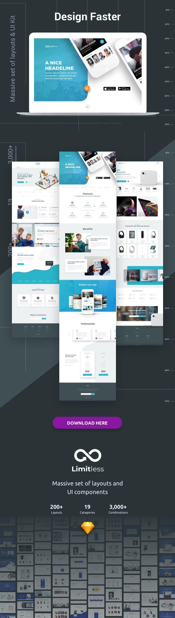 Limitless Web Design Web Design Projects Layout