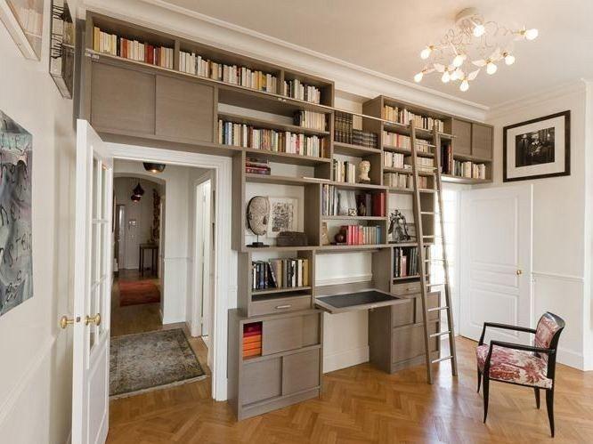 biblioth que murale sur mesure en bois biblioth que studio olivier doll perfects. Black Bedroom Furniture Sets. Home Design Ideas