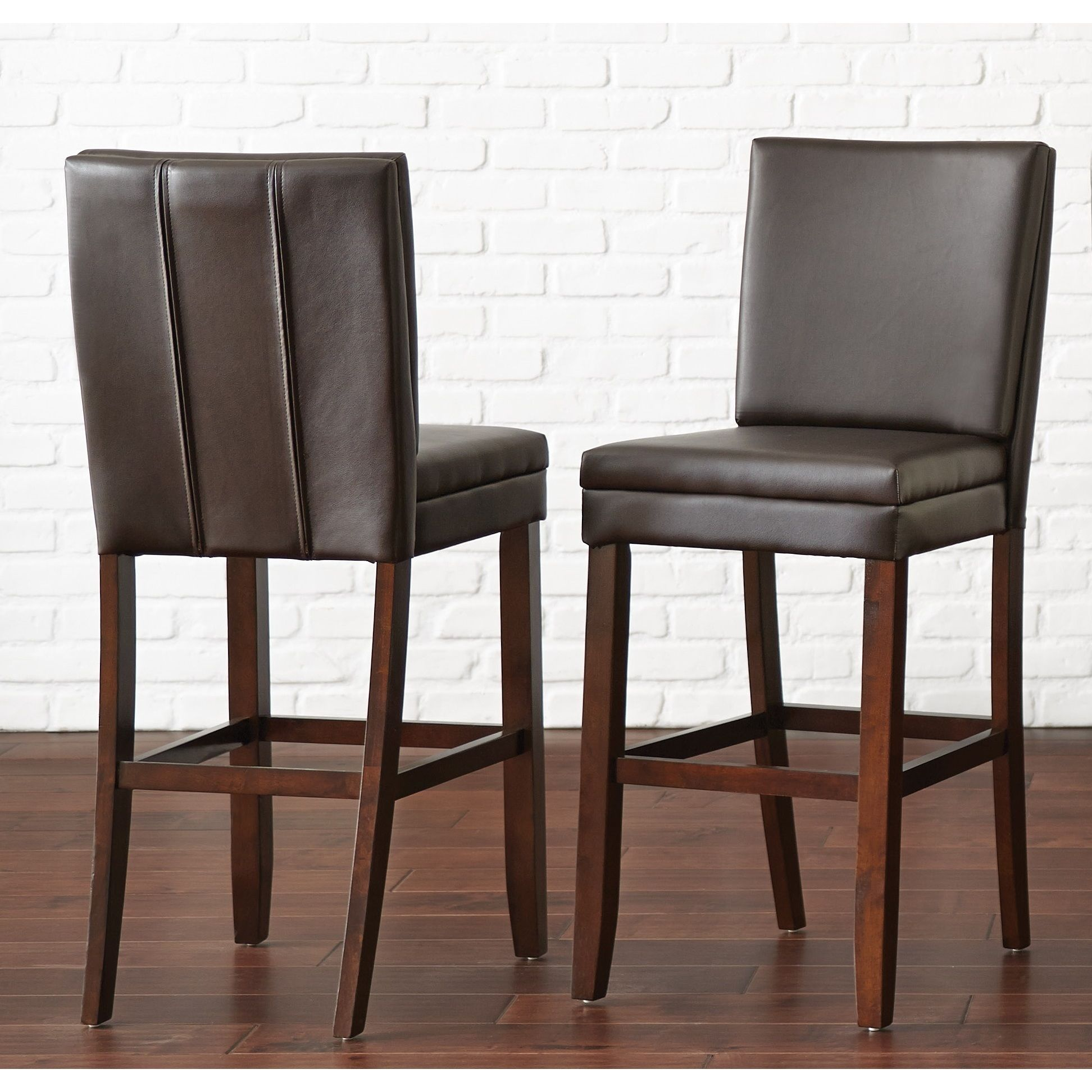 Buxton 30 Inch Faux Leather Bar Stool By Greyson Living Buxton Gray