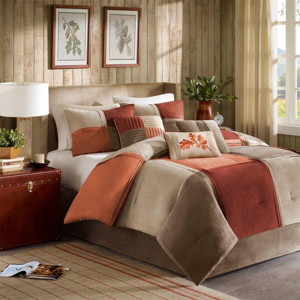 Madison Park Jackson Blocks 7 Piece Queen Comforter Set
