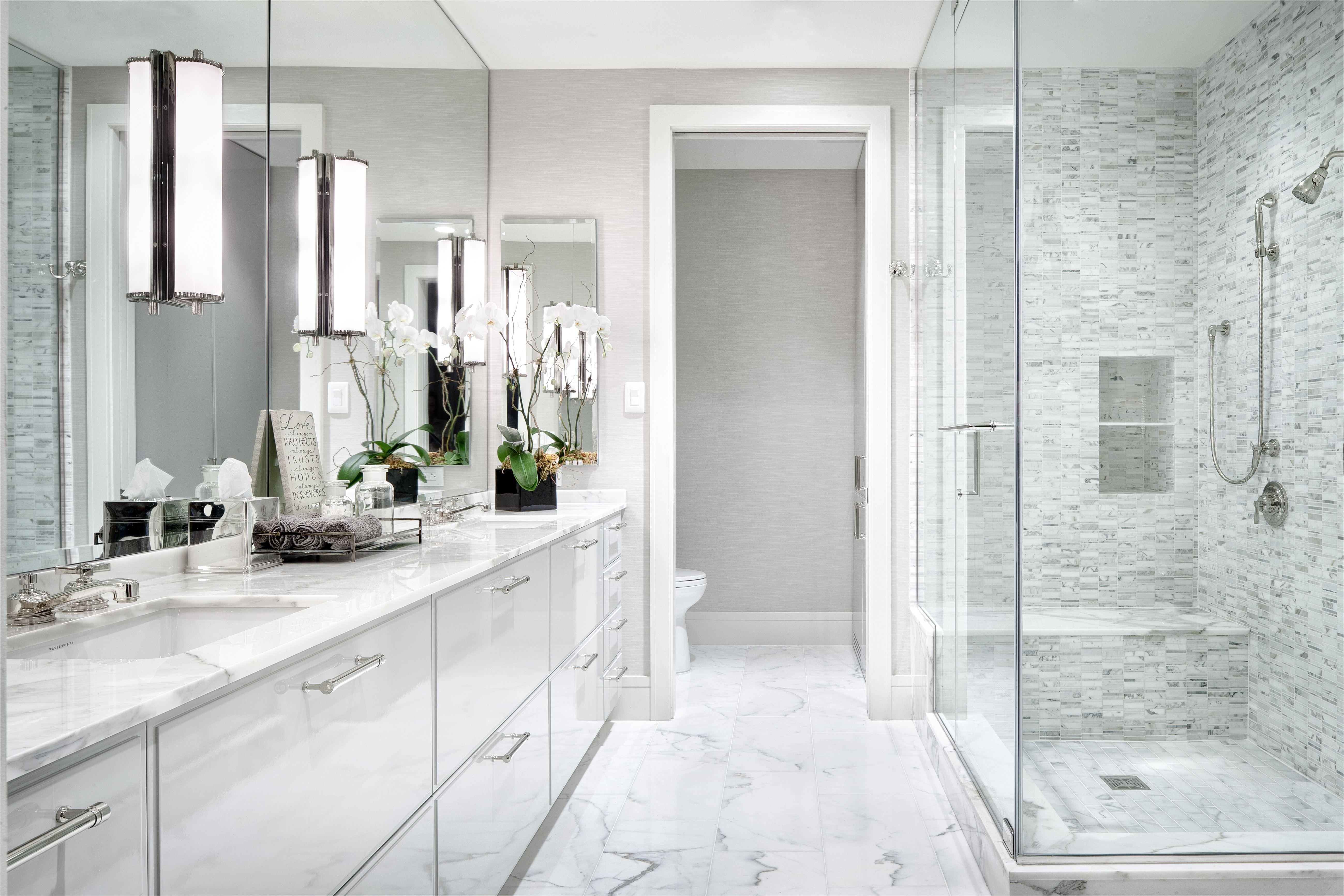 White Modern Master Bathroom - The Austonian, Austin, TX | My ...