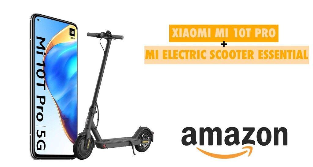 Amazon Calienta Motores Para El Prime Day Compra El Nuevo Xiaomi Mi 10t Pro Y Te Llevas Un Patinete Eléctrico Gratis Tech Oferta T Patineta Motores Compras