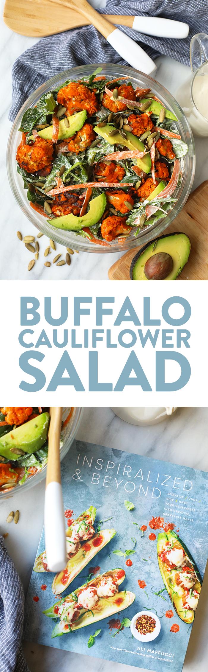 Vegan Buffalo Cauliflower Salad - Fit Foodie Finds