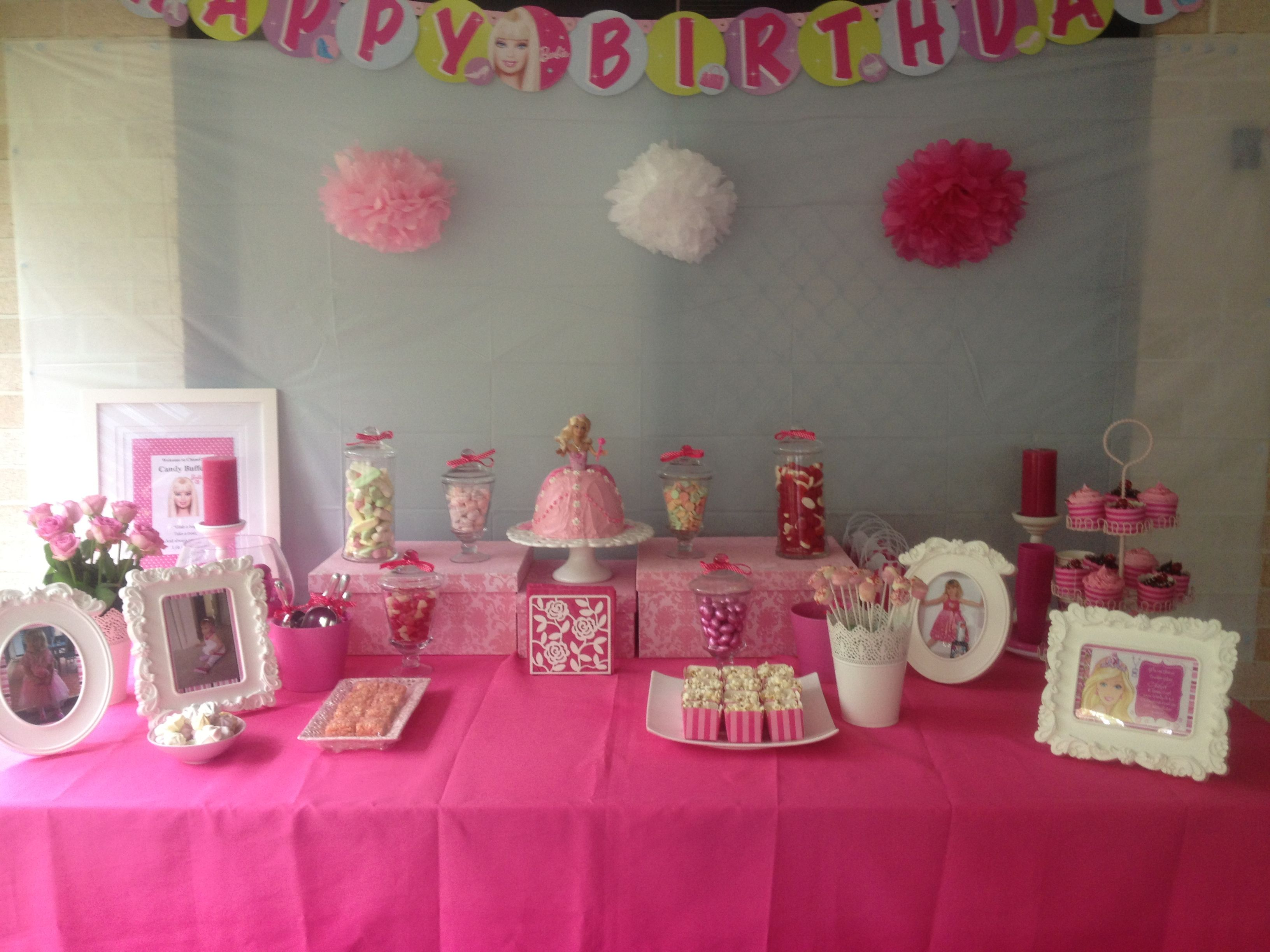 Marvelous Pink Barbie Candy Buffet Things I Love Barbie Party Interior Design Ideas Clesiryabchikinfo
