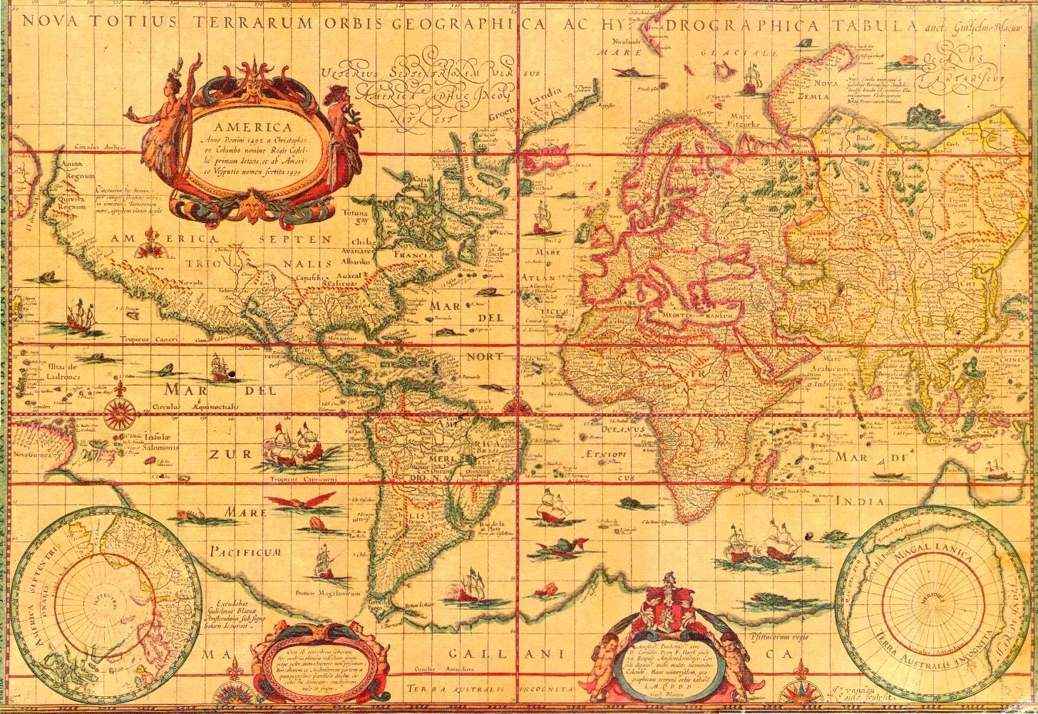 World map published in 1606 by dutch cartographer and atlas maker world map published in 1606 by dutch cartographer and atlas maker willem janszoon blaeu gumiabroncs Gallery