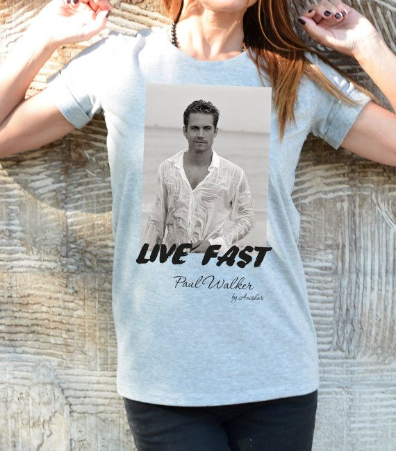 Live Fast T-shirt / Paul Walker Actor Tshirt / Film by Cotton9