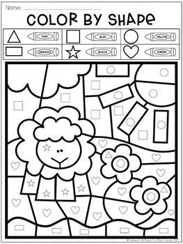color by shape freebie farm shapes numbers preschool shapes worksheets preschool worksheets. Black Bedroom Furniture Sets. Home Design Ideas