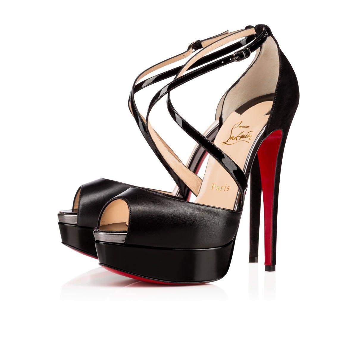 Women Shoes - Cross Me Kid/patent - Christian Louboutin