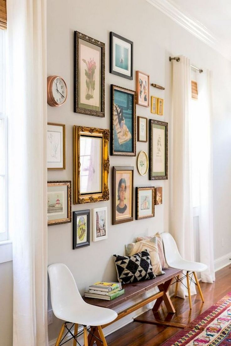 54 Awesome Gallery Wall Living Room Ideas - Thuisdecoratie