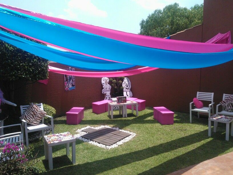 Fiesta de cumple para ninas decoracion para fiesta en for Decoracion para jardin de ninos