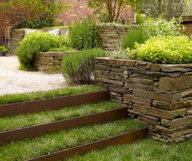 Escaleras cemento exteriores buscar con google apilables encastrables pinterest v as - Escaleras jardin ...