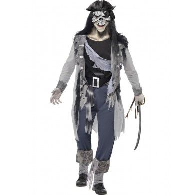 Skeleton Pirate Costume - Halloween Fancy Dress and Party